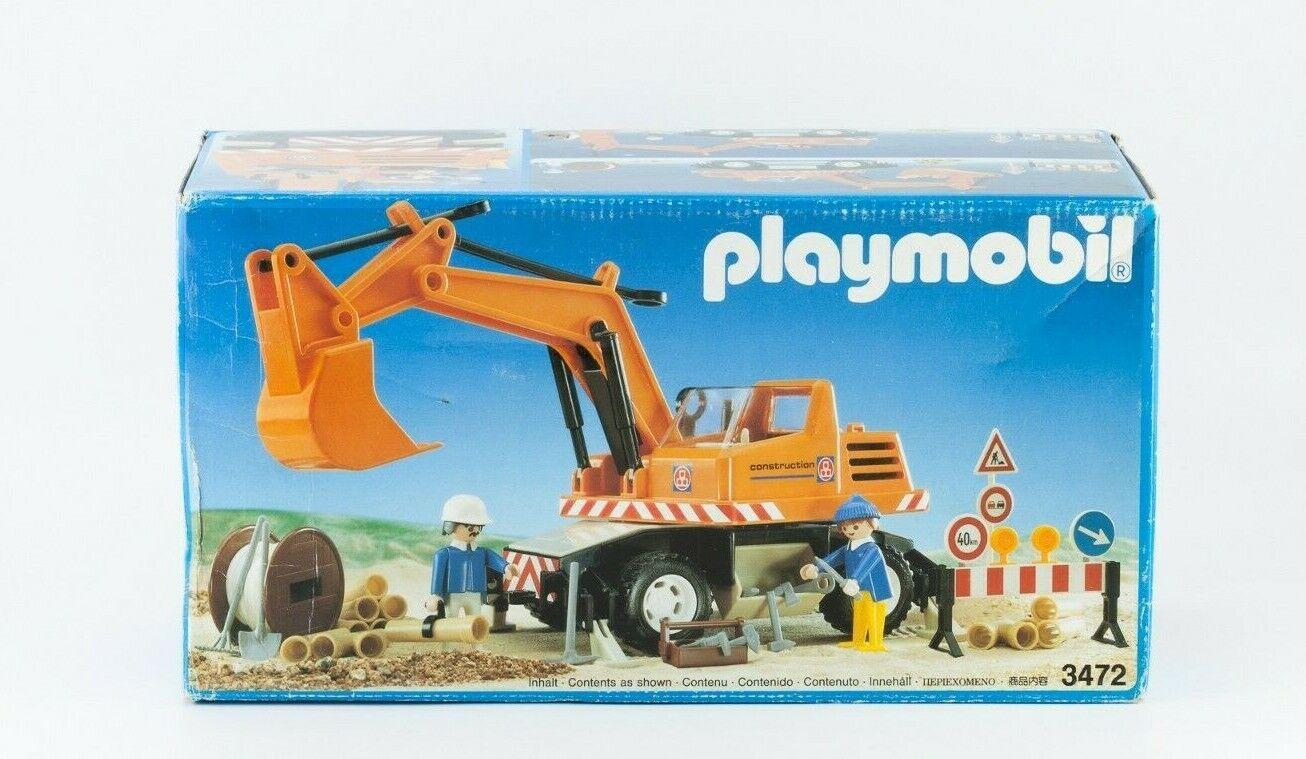 VINTAGE Playmobil RARE Bulldozer Nr 3472 EXCAVATOR EARTHlavoroERS FACTORY SEALED