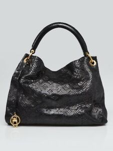 861912a1ed07 Image is loading Louis-Vuitton-Limited-Edition-Black-Python-Artsy-MM-