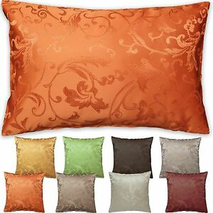 kissenh lle jacquard rankendesign kissenbezug 40x40 50x50 40x60 cm farbwahl ebay