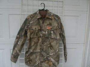 DUCK-COMMANDER-REAL-TREE-CAMO-BUTTON-DOWN-SHIRT-JACKET-MENS-S