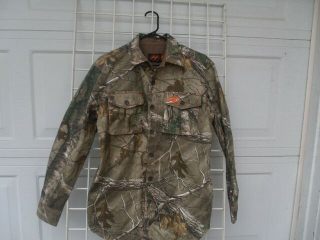 DUCK COMMANDER REAL TREE CAMO BUTTON DOWN SHIRT JACKET  MENS S