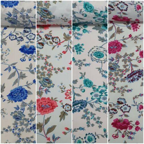 """44/"""" Crepé Suave 100/% Poliéster Confección de manualidades tela de la impresión floral de la India"""