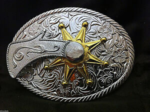 Western-Cowboy-034-Spinning-Spur-034-Metal-Belt-Buckle