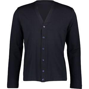 Designer-CRUCIANI-Men-039-s-Lightweight-Cardigan-Black-sizes-S-L