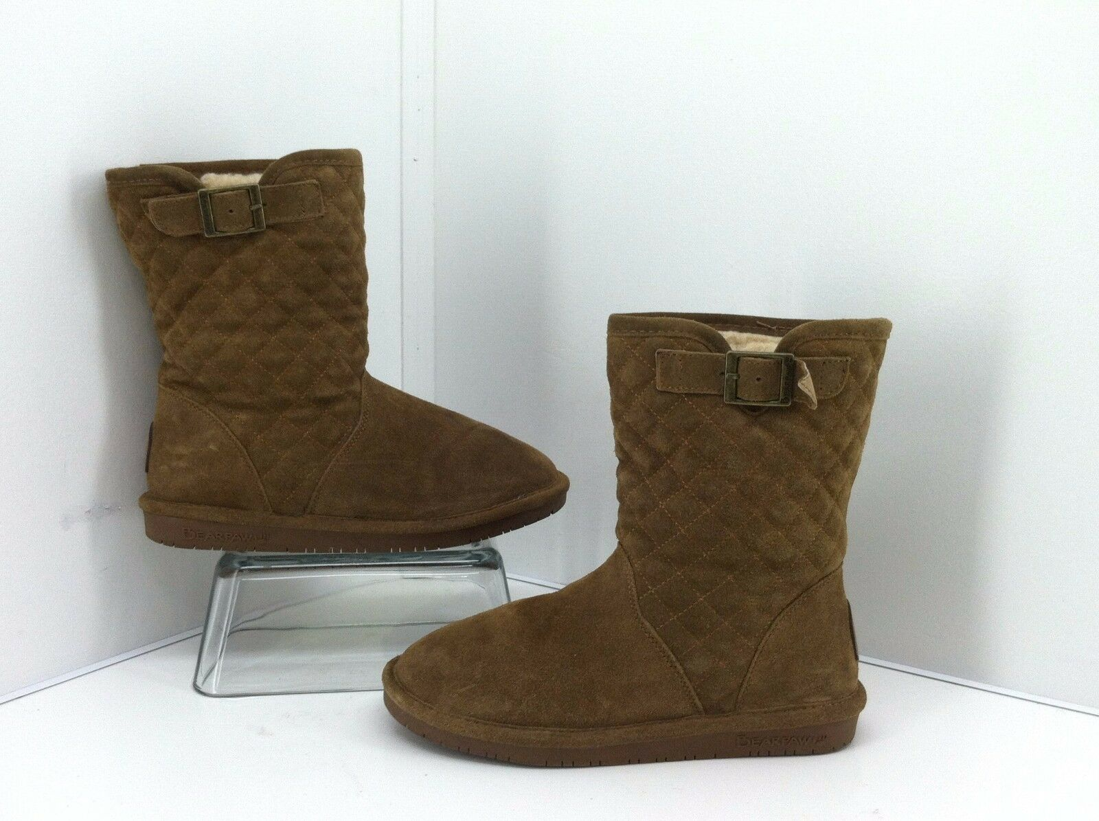 Bearpaws Leigh Ann Brown Boots. Suede Upper. Size 7 Style 1667w