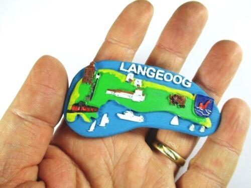 Langeoog Polyresin Magnet Germany Deutschland Souvenir,Neu