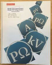 Keithley Model 220 Programmable Current Source Instruction Manual
