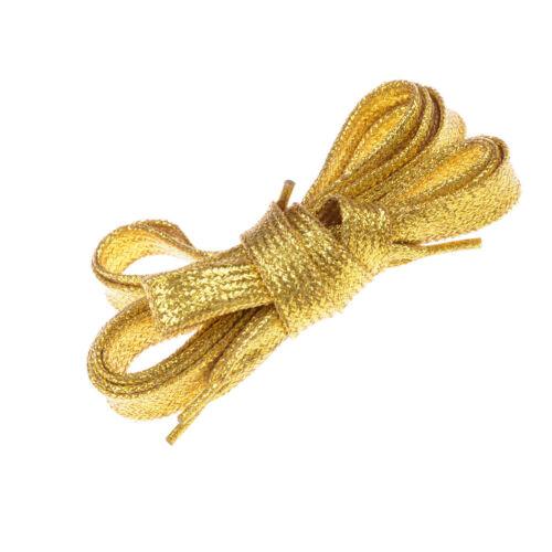 Gold Silber Thread Schnürsenkel Sport Sneakers Flat Schnürsenkel SchnürsenPDH