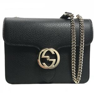 Image is loading NWT-GUCCI-510304-Interlocking-Leather-Chain-Crossbody-Bag- 8355ab601f005