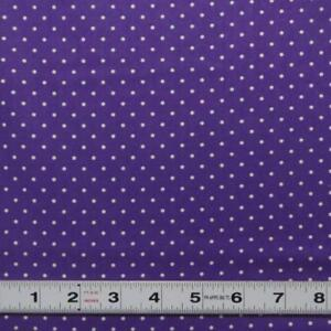 Lot-A442-WHITE-DOTS-ON-PURPLE-by-Cottage-Pin-Patchwork-Fabric-by-the-metre