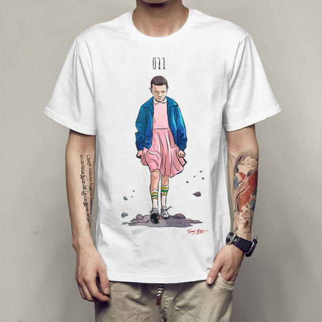 Stranger Things Women Men Tee T Shirt Short Sleeve Tops Comic Cartoon Eleven