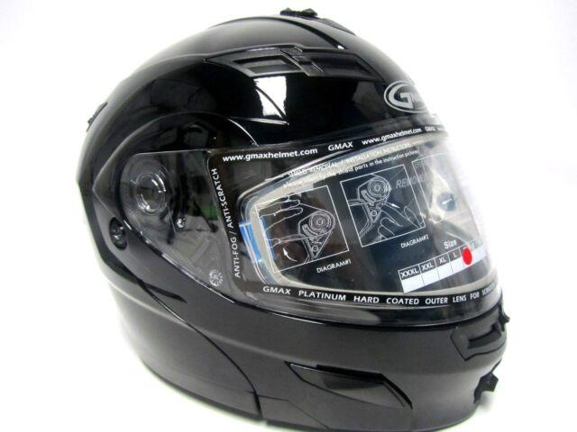 Gmax Gm54s Modular Motorcycle Helmet Black Xl Xlarge For Sale Online