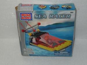 Mega-Bloks-Sea-Racer-5801-Brand-New-Block-Erector-Toy-Wave-Runner-70pcs-2003-HTF