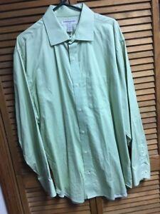 b0a09b9e Dress Shirt Banana Republic Mens Size XXL 2X 18 18 1/2 Lt Green 100 ...
