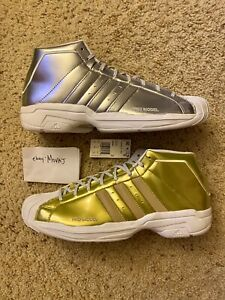 New-Sz-14-Adidas-Pro-Model-2G-Meta-FW9488-Basketball-Shoes-Limited-Edition-Gold