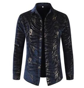 Blouse Zwart Slim Lange Werk Warm Overhemd Jack Fluweel Casual mouwen Business Heren Sbox14 0POnwk