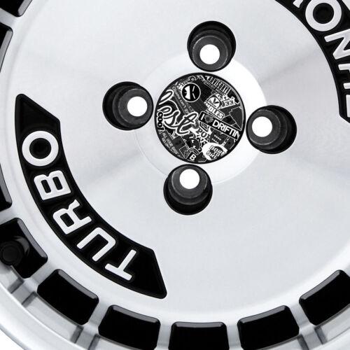 4x 55mm Diámetro B/&w Stickerbomb Centro Tapa calcomanías Deriva Illest Jdm Dub Euro VW