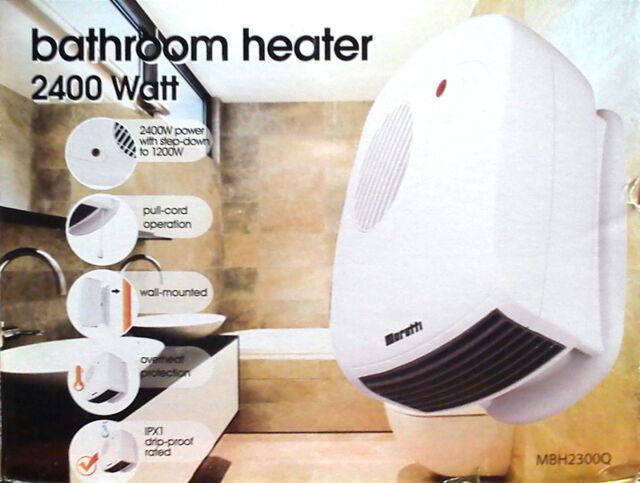 2400W Wall Mount Bathroom Fan Heater