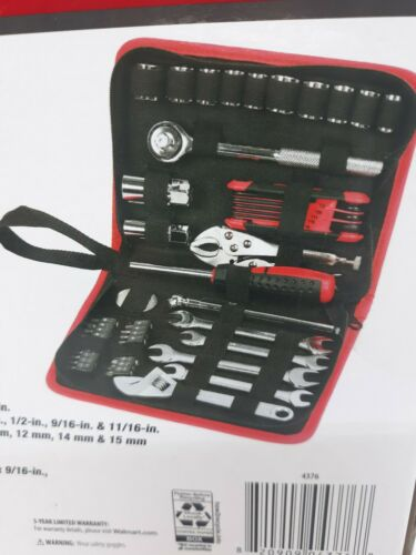 NEW Hyper Tough 51 Piece Auto and Motorcycle Tool Kit w// Zipper Storage Pouch
