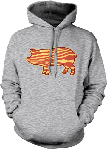 Bacon Pig Outline BBQ Barbecue Paleo Meat Candy Tasty Breakfast Hoodie Pullover