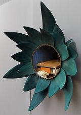 Specchio sole in cocco verde antico diametro cm 42  specchiabilità cm 20