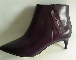 M\u0026S Purple Leather Ankle Boots Insolia