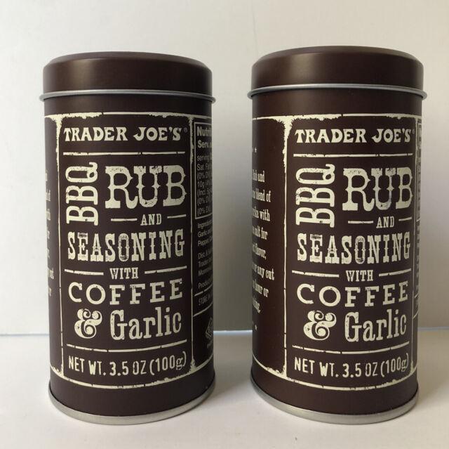 2X Trader Joe's Coffee Garlic BBQ Rub Seasoning NEW 🔥🔥   eBay