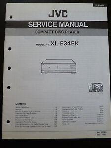 Original Service Manual JVC Compact Disc Player XL-E34BK | eBay