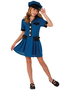 Image is loading Lady-Cop-Girl-Child-Police-Officer-Blue-Uniform-  sc 1 st  eBay & Lady Cop Girl Child Police Officer Blue Uniform Halloween Costume | eBay