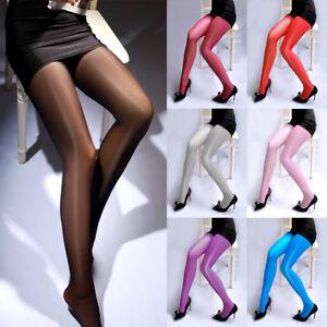64bcffc8f5b Women High Waist Open Crotch Oil Shine Glossy Stocking Body Shaped ...