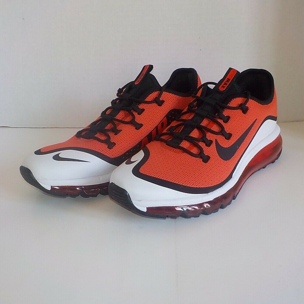 Nike AIR MAX MORE Casual shoes HABAblack RED BLACK AR1944 600 MEN SIZE 10.5