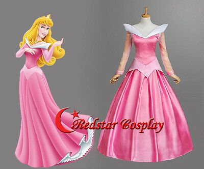 Sleeping Beauty Aurora princess Cosplay Party Dress custom-made Girls