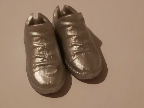 NEW BARBIE DOLL SILVER FLAT BOTTOM TENNIS SHOES
