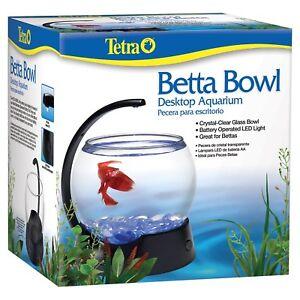 Tetra Betta Bowl Desktop Aquarium With Battery Operated LED Light