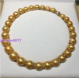HUGE-15-12-MM-golden-natural-18-034-AAA-SOUTH-SEA-PEARL-NECKLACE-14K-gold-Clasp