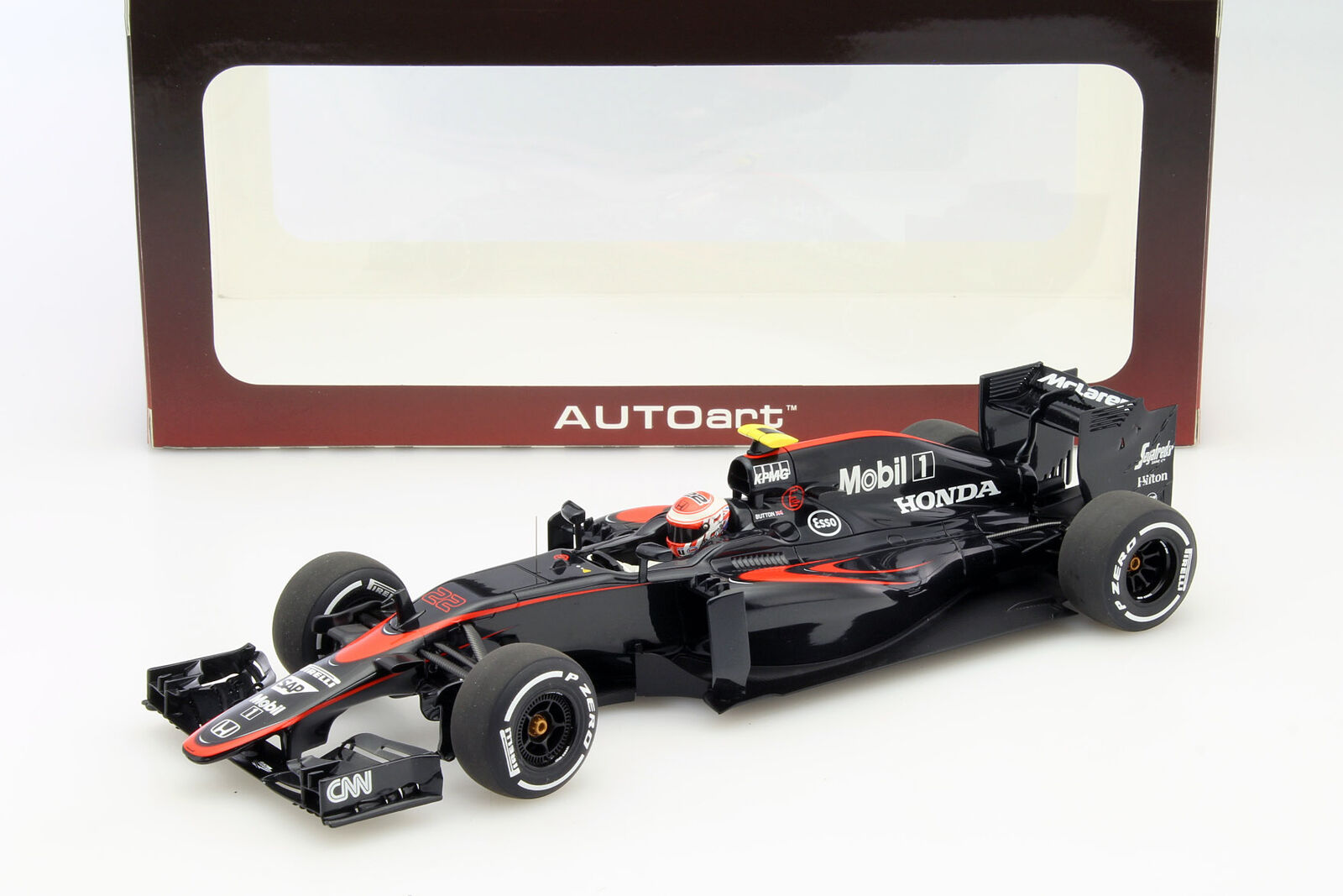 Jenson Button McLaren mp4-30 Spain GP Formula 1 2015 1 18 Autoart