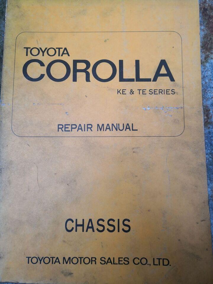 (130)Reparationsbog, Toyota Corolla KE & TE