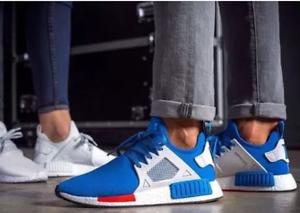 Adidas Men Originals NMD XR1 BluebirdVintage WhiteRed CG3092 Shoes