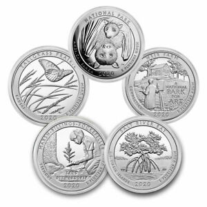 2020 5-Coin 5 oz Silver ATB Set (America the Beautiful)