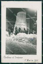 Belluno Cortina d'Ampezzo Nevicata Ghiaccio Foto cartolina QT1232