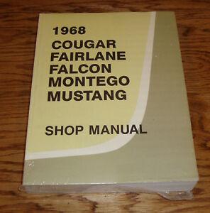 1968 ford mercury cougar fairlane falcon mustang shop service manual rh ebay co uk 67 Mustang 68 Mustang Coupe