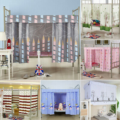 Single Bed Curtain Students Dormitory Bunk Bed Nets Dustproof Blackout Fabric
