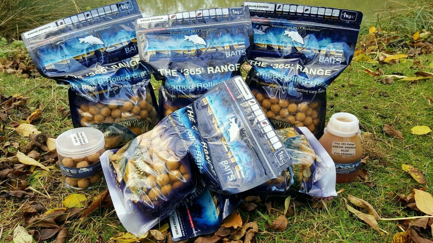 Innovate Baits MEGA DEAL Shelflife KREAM KRUNCH 5kg 16mm pop ups and glug