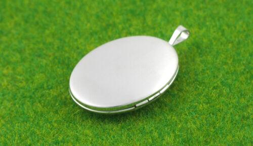 SL1005 925 Sterling Silver 26mm X 20mm Real Diamond Heart Design Oval Locket