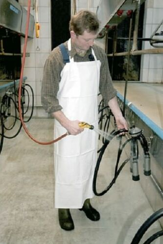 Melkschürze waschschürze 120 cm de largo 100cm de ancho blanco delantal delantal de goma 14150