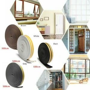 5m Door Seal Strip Bottom Self Adhesive Weather Stripping Soundproof For Window