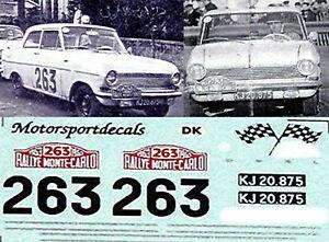 Opel Kadett A Ralley Monte Carlo 1963 1:43 Autocollant Décalcomanie