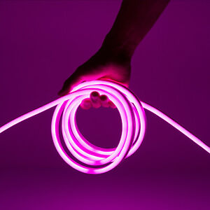Wyzworks pink flexible waterproof soft double sided led neon rope la foto se est cargando wyzworks pink flexible waterproof soft double sided led aloadofball Image collections