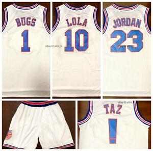 Bugs-Bunny-Lola-Bunny-Jordan-Tune-Squad-Space-Jam-Movie-Men-039-s-Basketball-Jersey