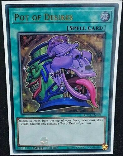 CT14-EN004 Pot of Desires Ultra Rare Limited Edition NM